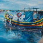 Fishermen boats at Marsaxlokk village