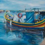 Fishermen boats at Marsaxlokk village