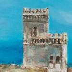 Way to Għar Lapsi, unique tower